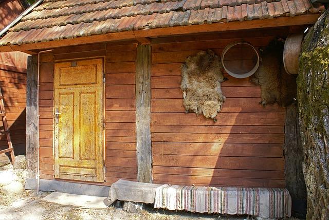 kožešiny na domě